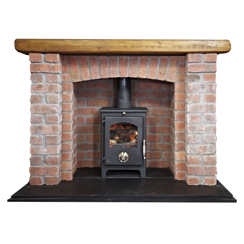 brick fireplace with log burner types of fireplaces in