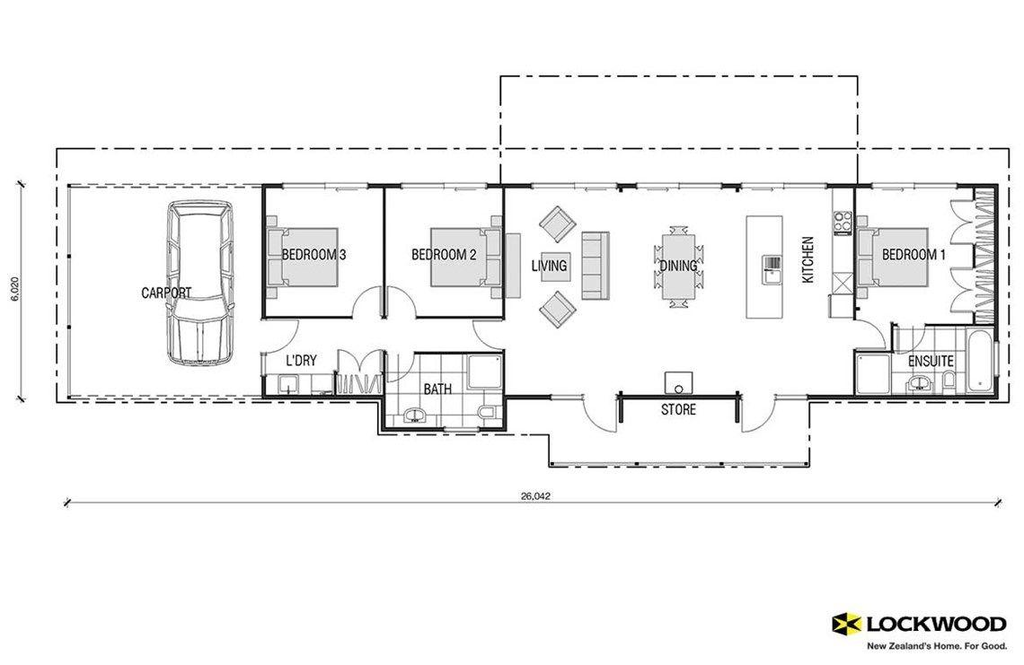 Verandah house plans new zealand house designs nz for Floor plans new zealand