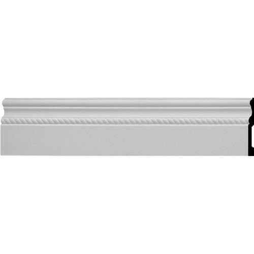 Ekena Oslo 6 X 96 Primed Urethane Rope Baseboard At Menards Baseboard Molding Baseboard Moulding Ekena Millwork