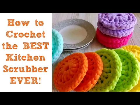 How to Crochet the BEST Kitchen Scrubber Ever! - YouTube | CROCHET ...