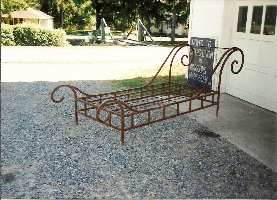Beds Awesome Wrought Iron Sleigh Bed Wrought Iron Sleigh