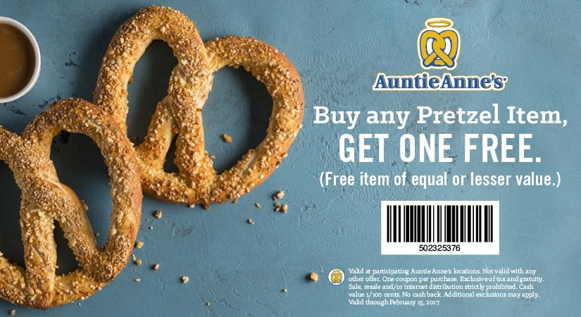 Auntie Annes 🆓 Coupons & Shopping Deals! Restaurant