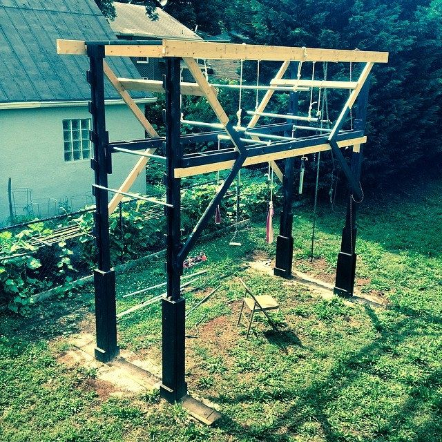 Home Made American Ninja Warrior Gym 2014 Handmade Homemade Ninjagym