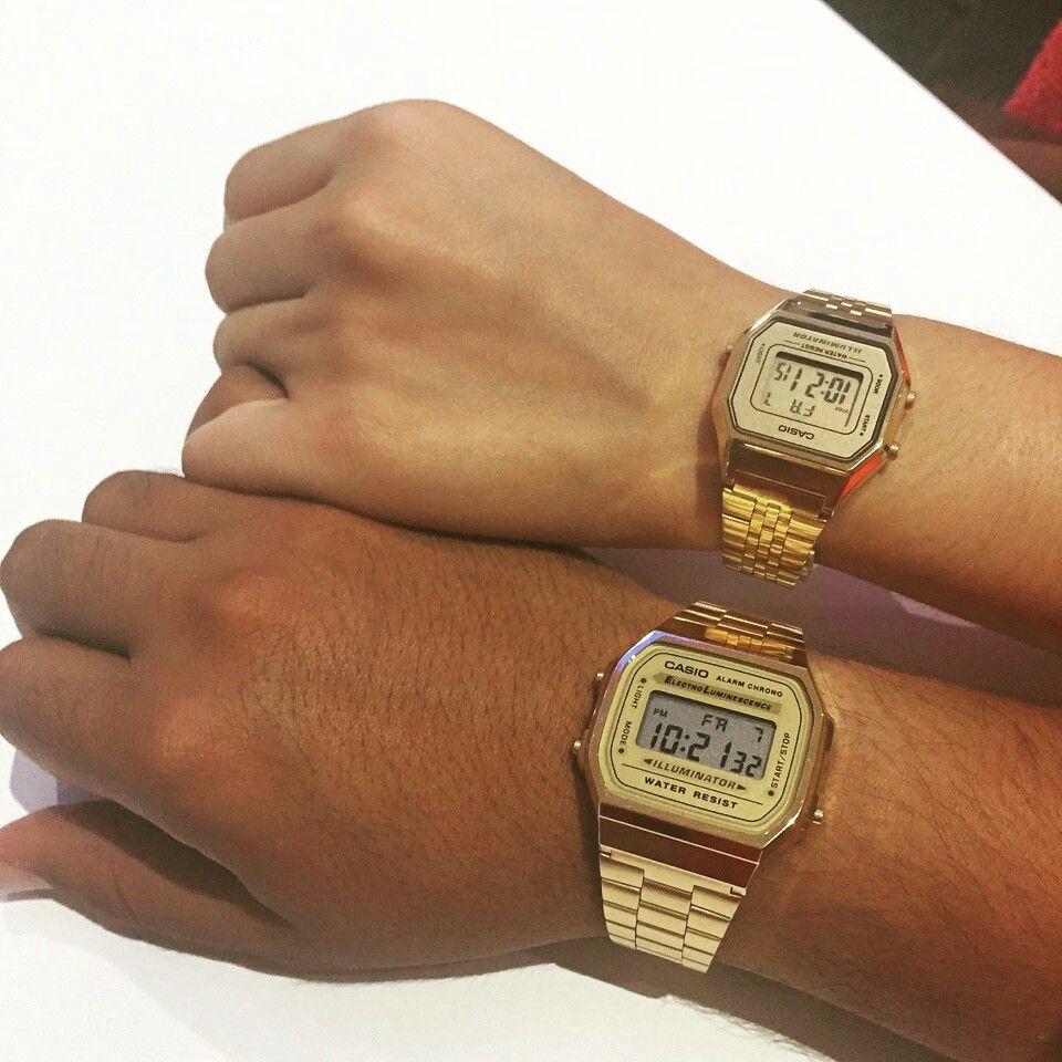 Casio Vintage Quero Os Dois Relogios Dourados Relógio Casio Feminino Relogios Femininos