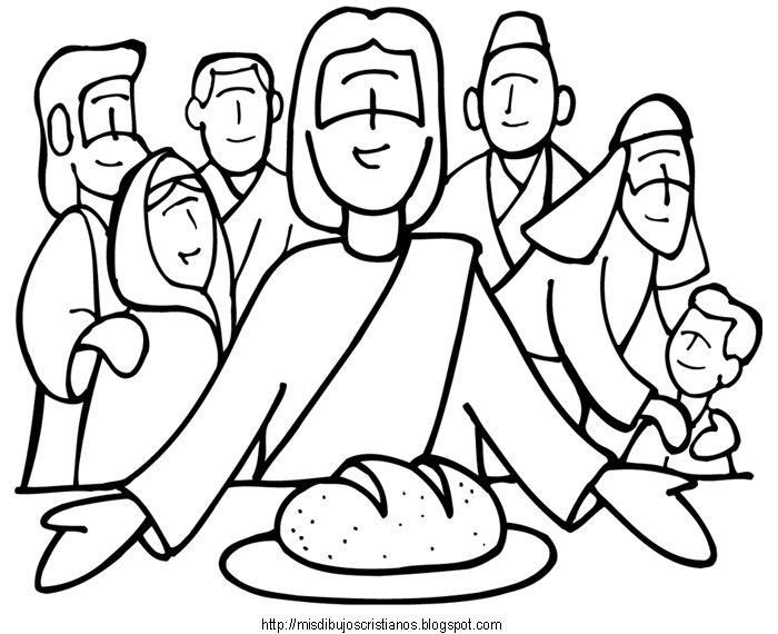 jesus pan de vida | DIBUJOS PARA COLOREAR CRISTIANOS | Pinterest ...