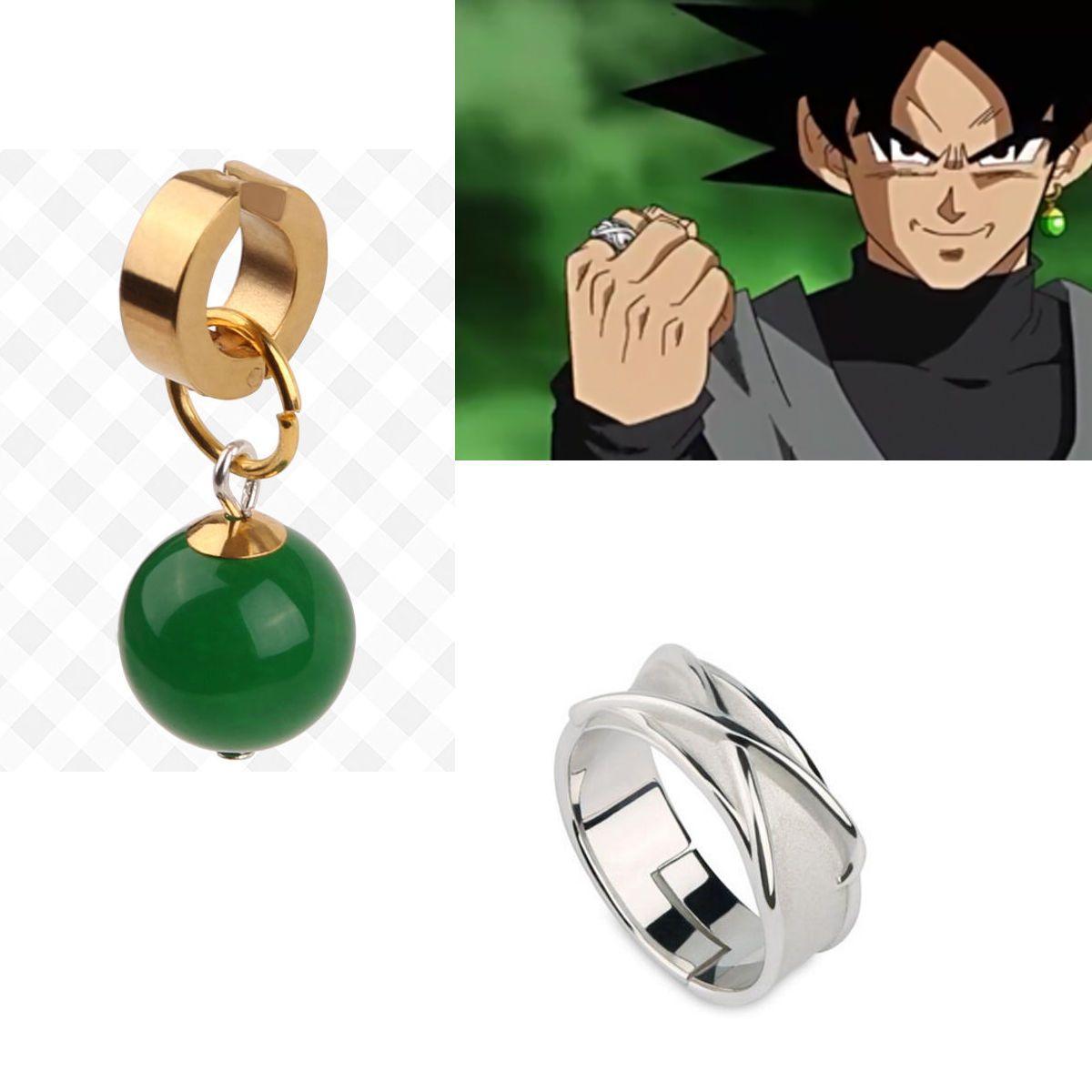 Dragonball Super Dragon Ball Black Son Goku Zamasu Time Ring Supreme Kai Earring Dragon Ball Dragon Ball Super Potara Earrings