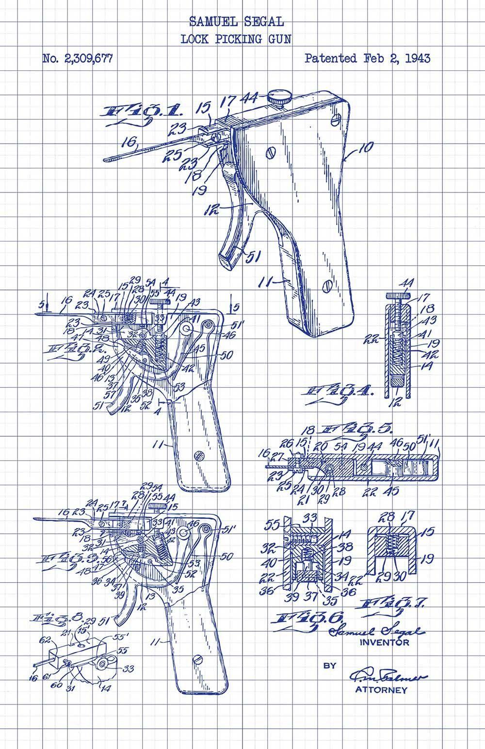 lock picking apparatus samuel segal 1943 [ 1000 x 1545 Pixel ]