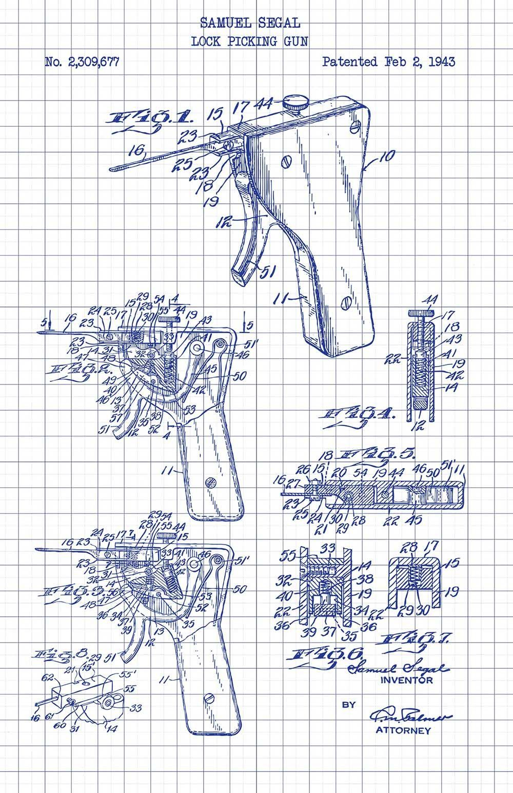 medium resolution of lock picking apparatus samuel segal 1943