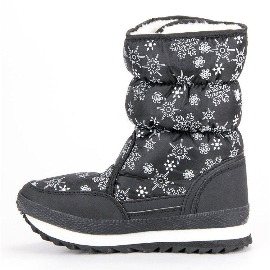 Cieple Zimowe Sniegowce Czarne Boots Shoes Winter Boot