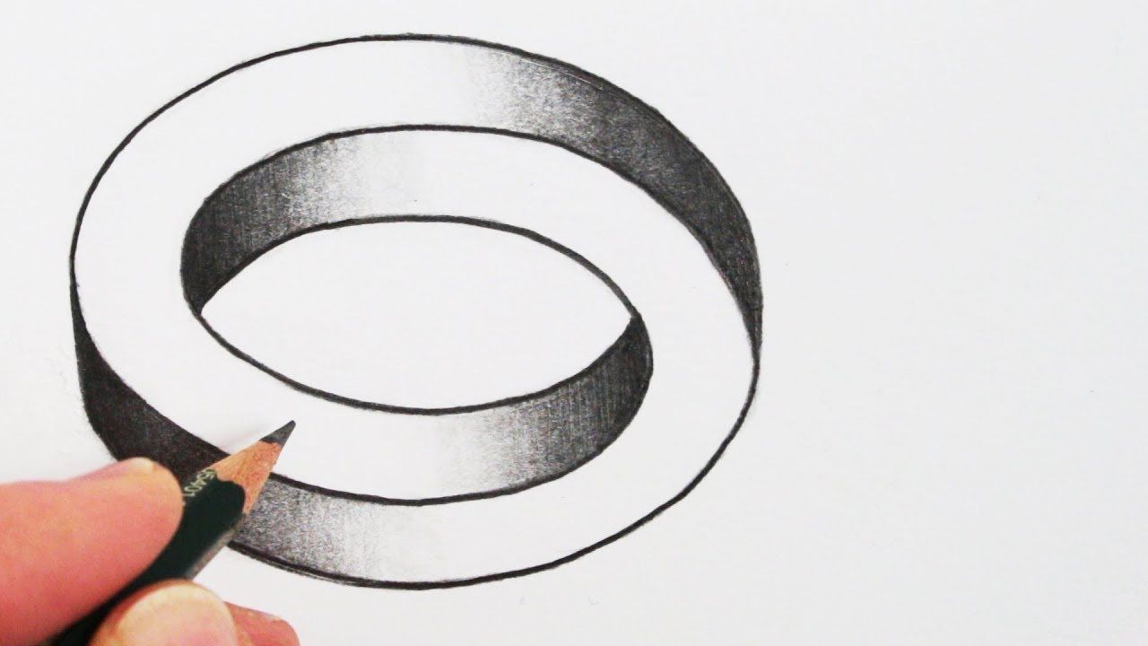 How To Draw A Simple Optical Illusion The Impossible Oval