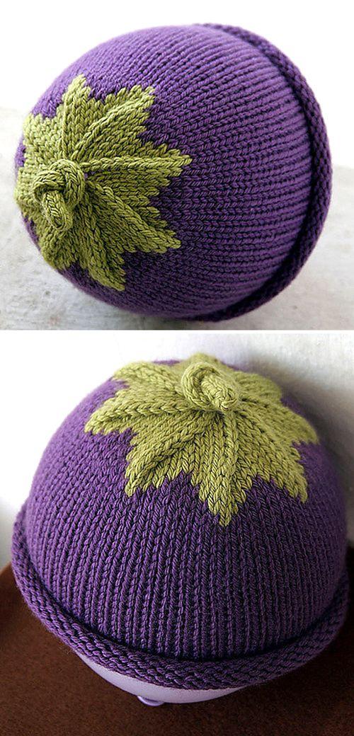 Berry Baby Hat - Free Pattern (Amazing Knitting) #freeknittingpatterns