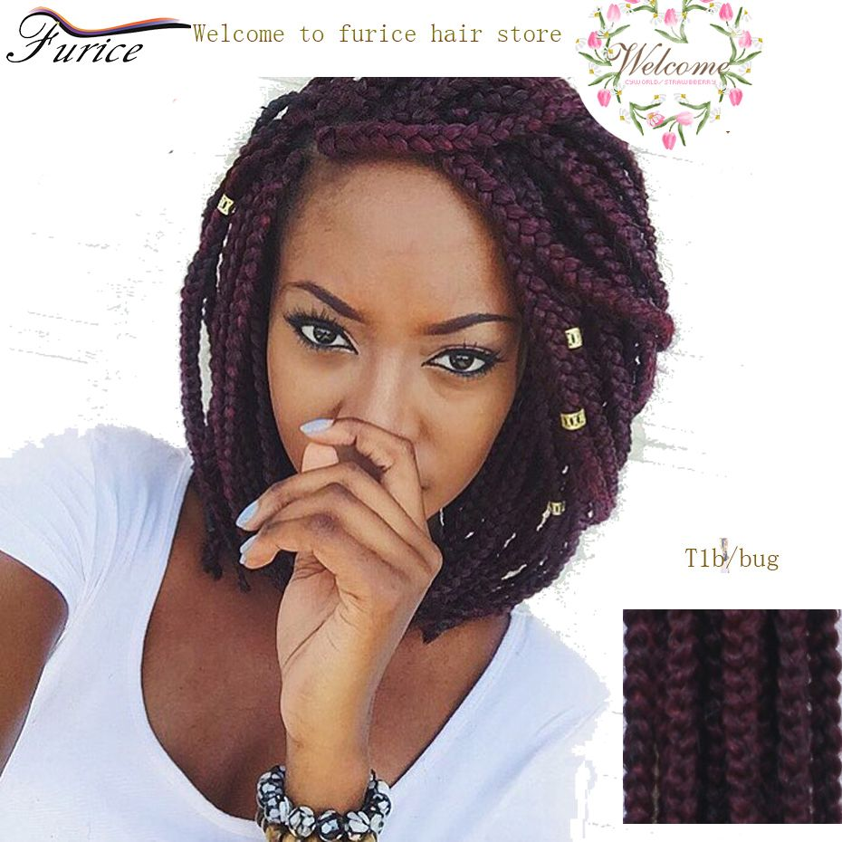 Tremendous Different Color Box Braids 18 Inch 24 Inch Curly Crochet Hair Hairstyles For Women Draintrainus