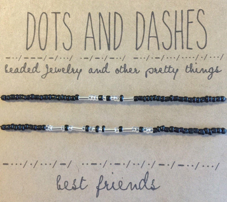 Morse Code Best Friends Bracelets By Dotsanddashesjewelry On