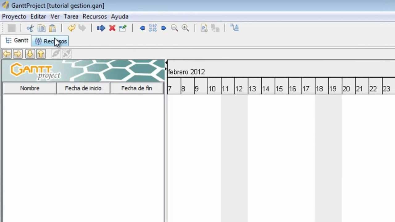 tutorial ganttproject part 1 organización pinterest tutorials