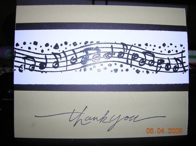 I made this thank you card for my daughteru0027s music teacher Her - thank you notes for teachers