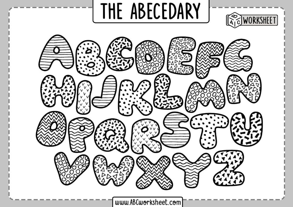Alphabet Coloring Pages Abc Worksheet Alphabet Coloring Pages Doodle Alphabet Abc Coloring Pages