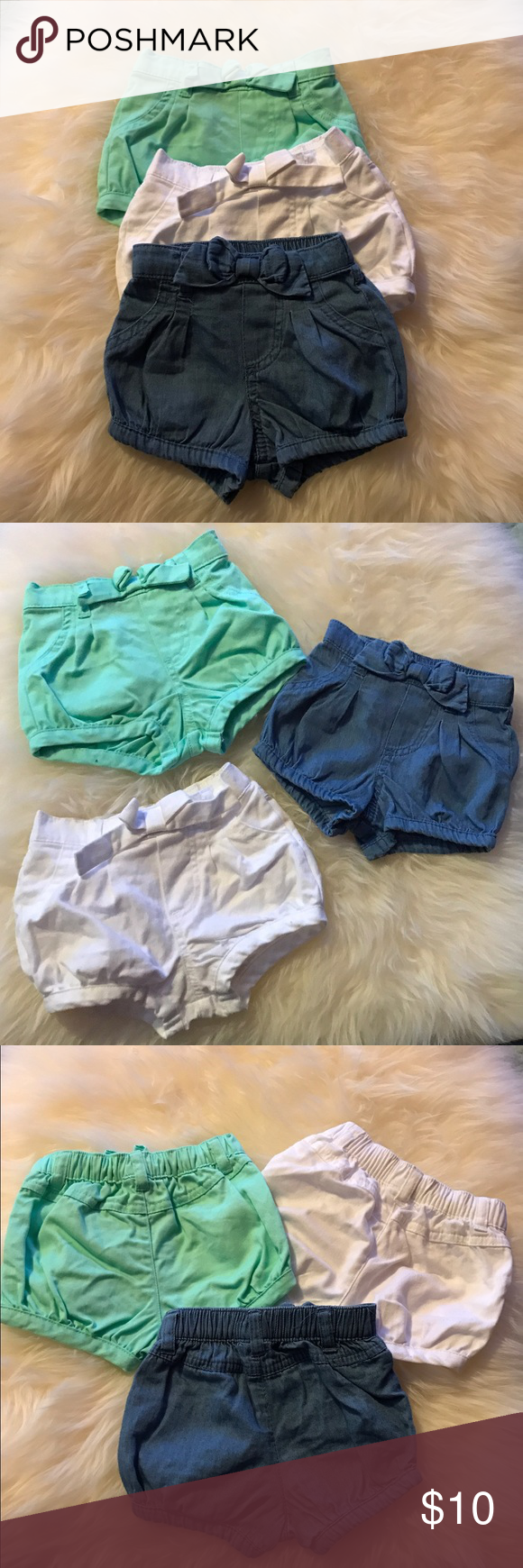Shorts 3 Newborn Circo shorts. Never worn. NO TRADES. Circo Bottoms Shorts