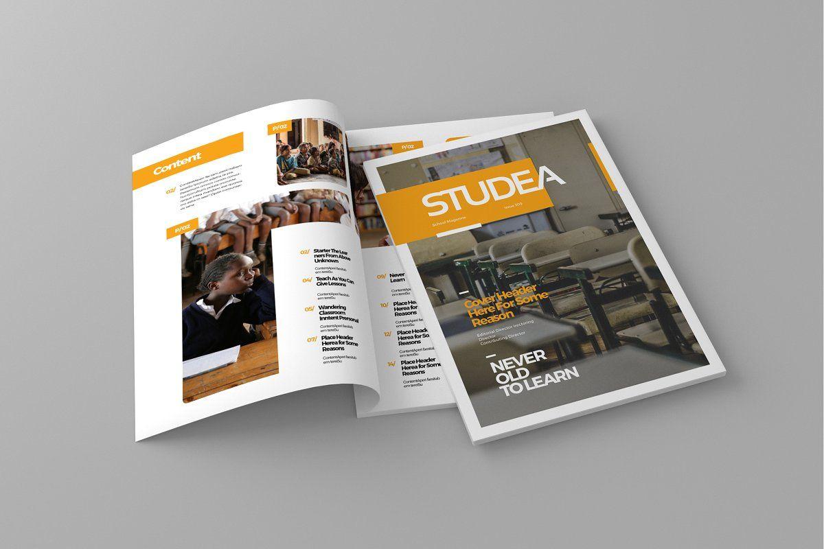 Studea Magazine Template in 2020 Magazine template
