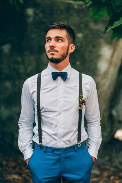 4cbb99e77c0c41 50 Ideeën voor een originele bruiloft | 婚紗/男 - Bruiloft outfit gast,  Bruidegom bretels en Bruiloft bretels