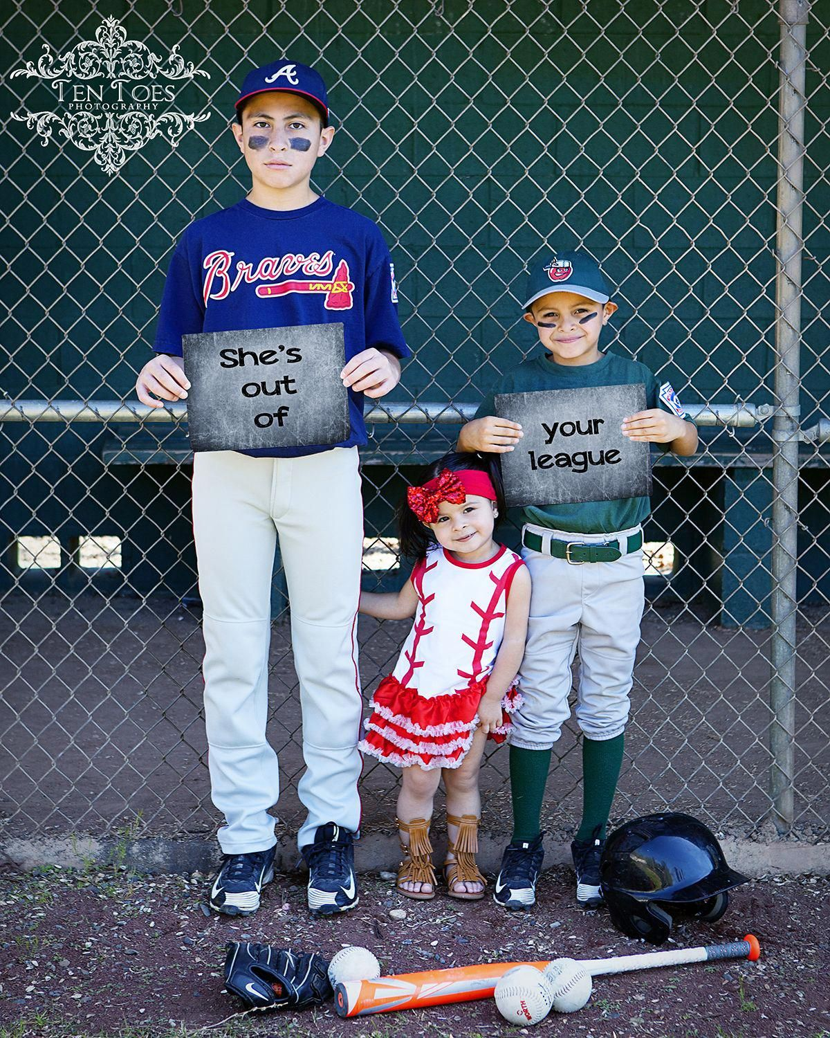 She S Out Of Your League Family Kids Baseball Photography Pose Baseballpictures Baseball Photography Baseball Family Sibling Pictures