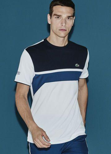 T-shirt color block Tennis Lacoste SPORT en piqu� r�sistant