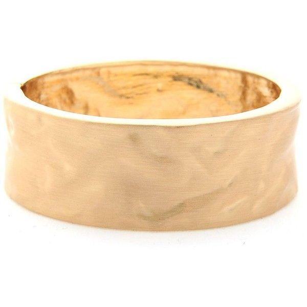 Hammered Cuff Bracelet | $5.8 | Trendy Cheap | Bracelets | gold |... ($5.80) ❤ liked on Polyvore