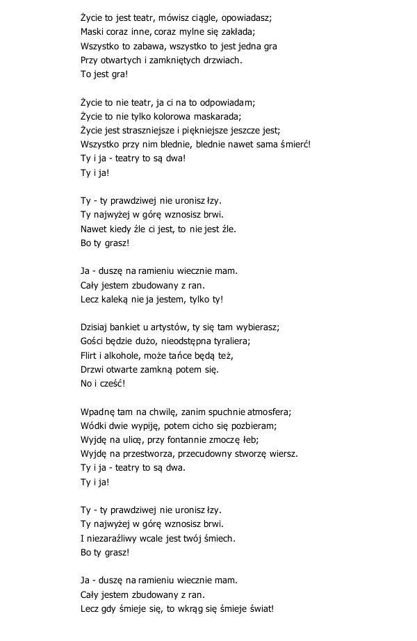 Zycie To Nie Teatr Edward Stachura Poems Quotations Words