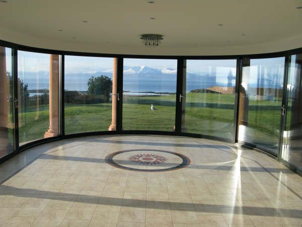 curved doors in stylish mansion brighton♡ & Curved glass patio doors and windows - Balcony systems | Ideas for ... Pezcame.Com