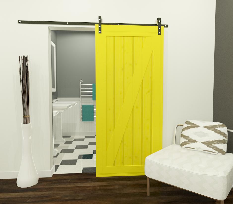 Sliding Barn Doors Interior | Sliding Barn Door Design  Http://3dlibrary.chiefarchitect