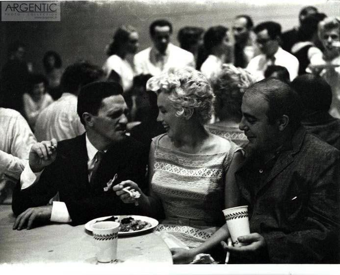 Marilyn Monroe pictured at director Elia Kazan's birthday party in NYC – 1955 – Roy Schatt