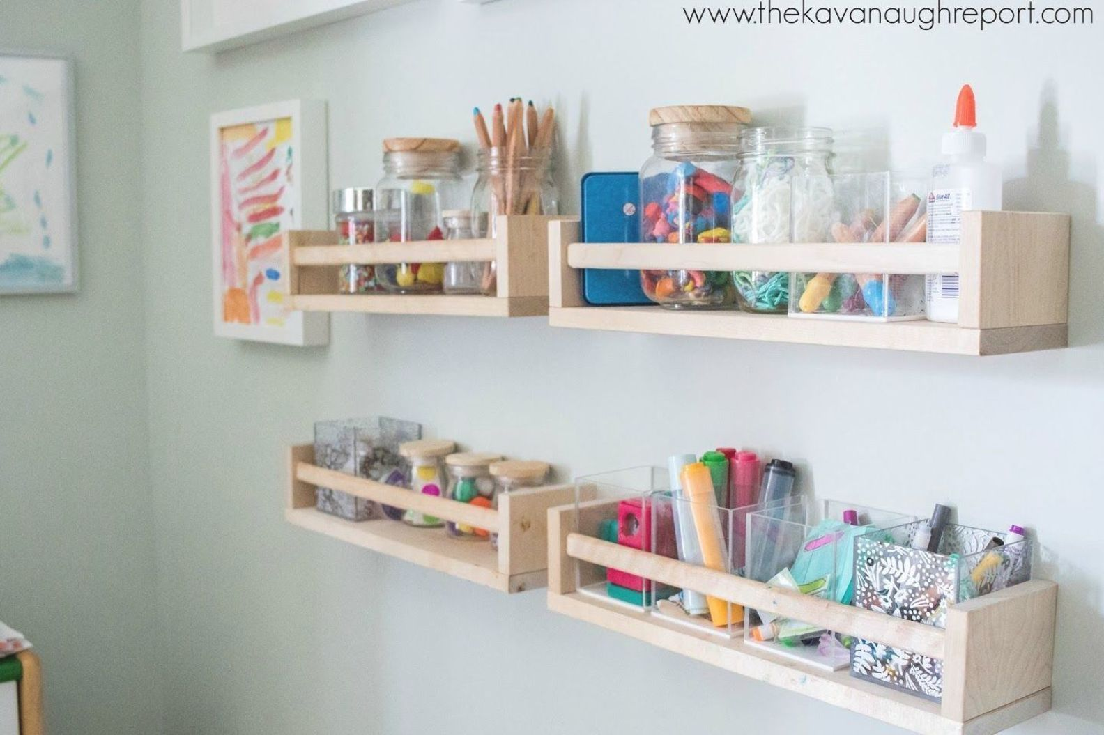 Montessori Home - Art Area Remodel