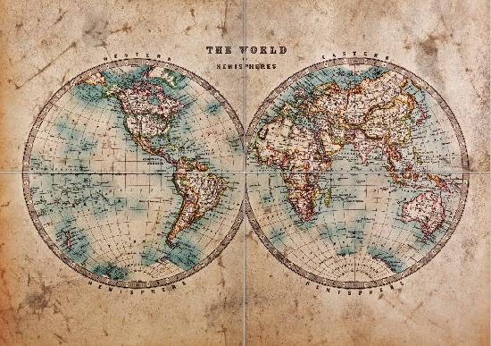 World Map Mid 1800s Metal Poster Print El Tropico Displate In 2020 Old World Maps World Map Mural World Map Photo