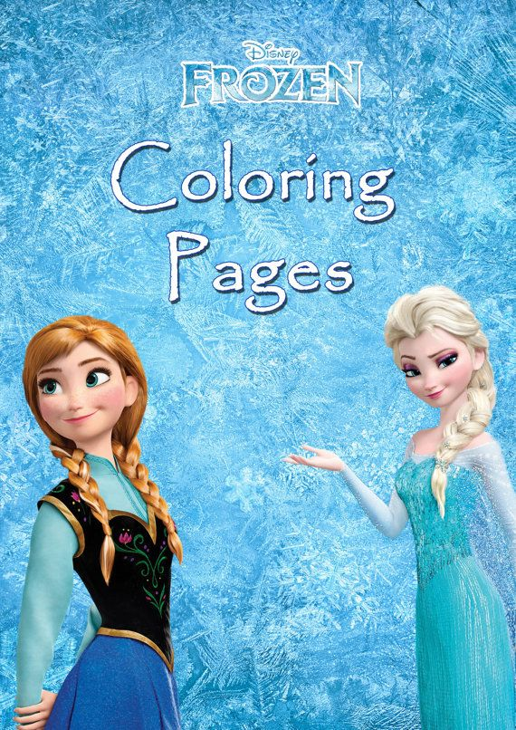 Mini Coloring Book Disney Frozen Pages Printable Decorative Party