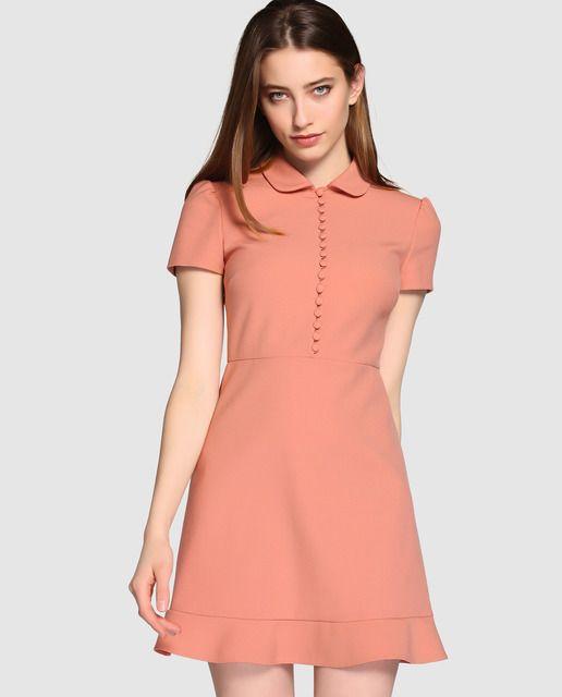 df3e8ba99 Vestido corto de mujer Red Valentino con cuello camisero