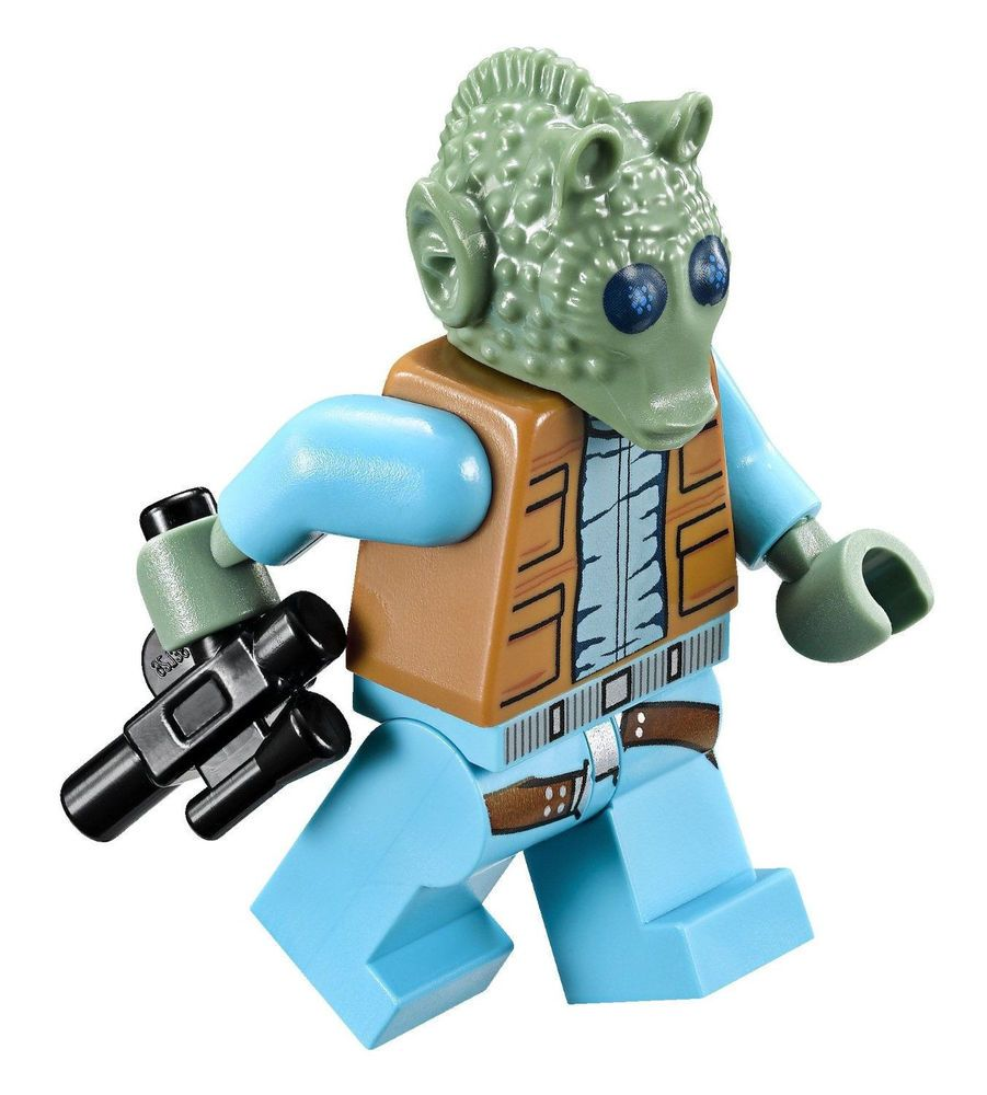 LEGO STAR WARS GREEDO MINIFIGURE With Blaster Gun From Mos Eisley - 25 2 lego star wars minifigures han solo han in carbonite blaster