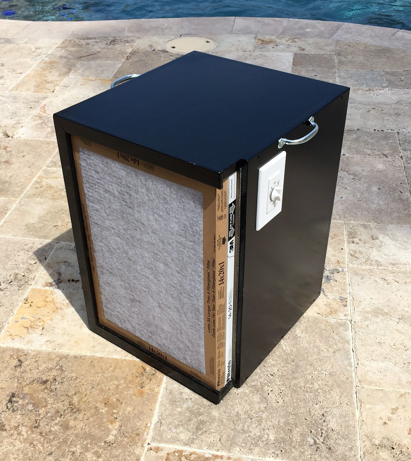 """DIY Air / Dust Filtration System. 20x14"""" filters, 465CFM"""