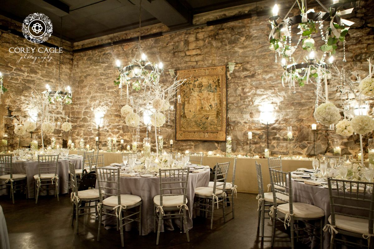 champagne cellar wedding reception at biltmore estate