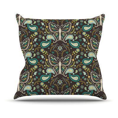Kess InHouse Suzie Tremel Butterfly Garden Indoor / Outdoor Throw Pillow - ST2001AOP04