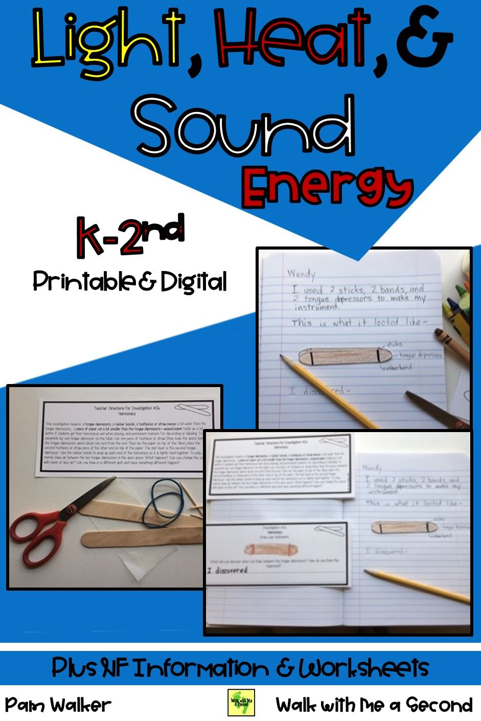 Light Heat And Sound Energy Distance Learning Learning Science Sound Energy Nonfiction Texts [ 1410 x 941 Pixel ]