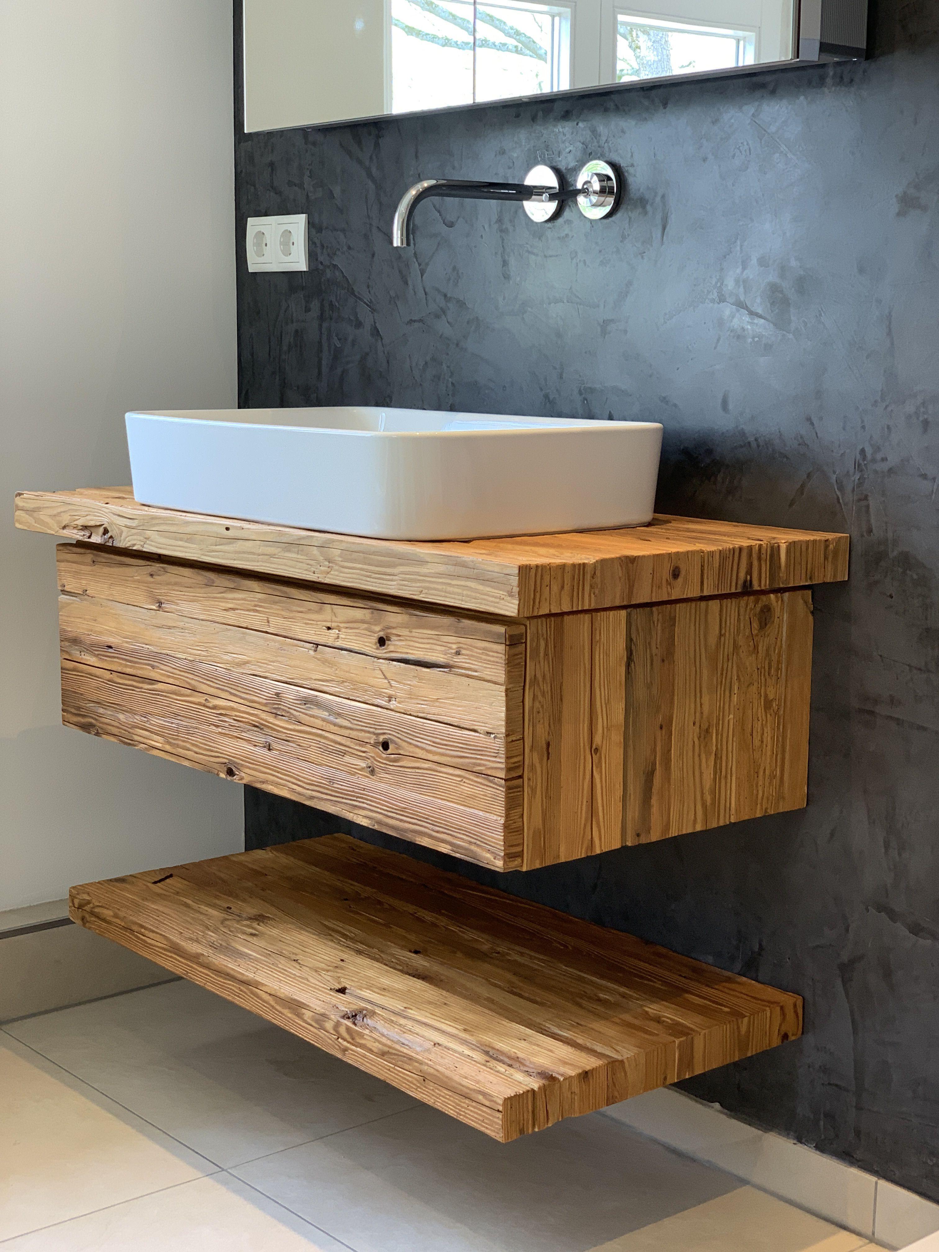 Waschtisch Altholz Waschtisch In Altholz Vom Schreiner Gefertigt Ruckwand Anthrazit Es Ist Einfacher Als Sie D In 2020 Altholz Waschtisch Waschtisch Holz Waschtisch