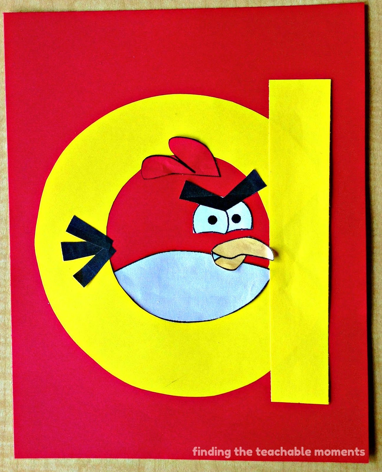 A Is For Angry Bird An Angry Bird Inside A Lowercase