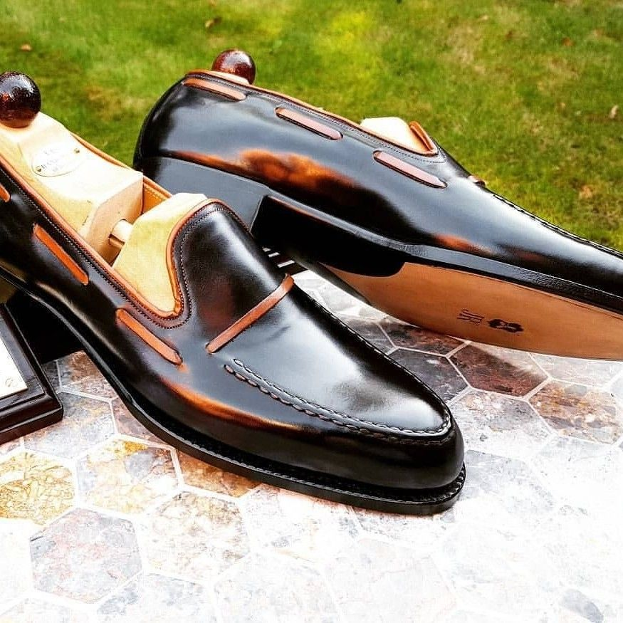 Dark brown leather shoes, Casual shoes
