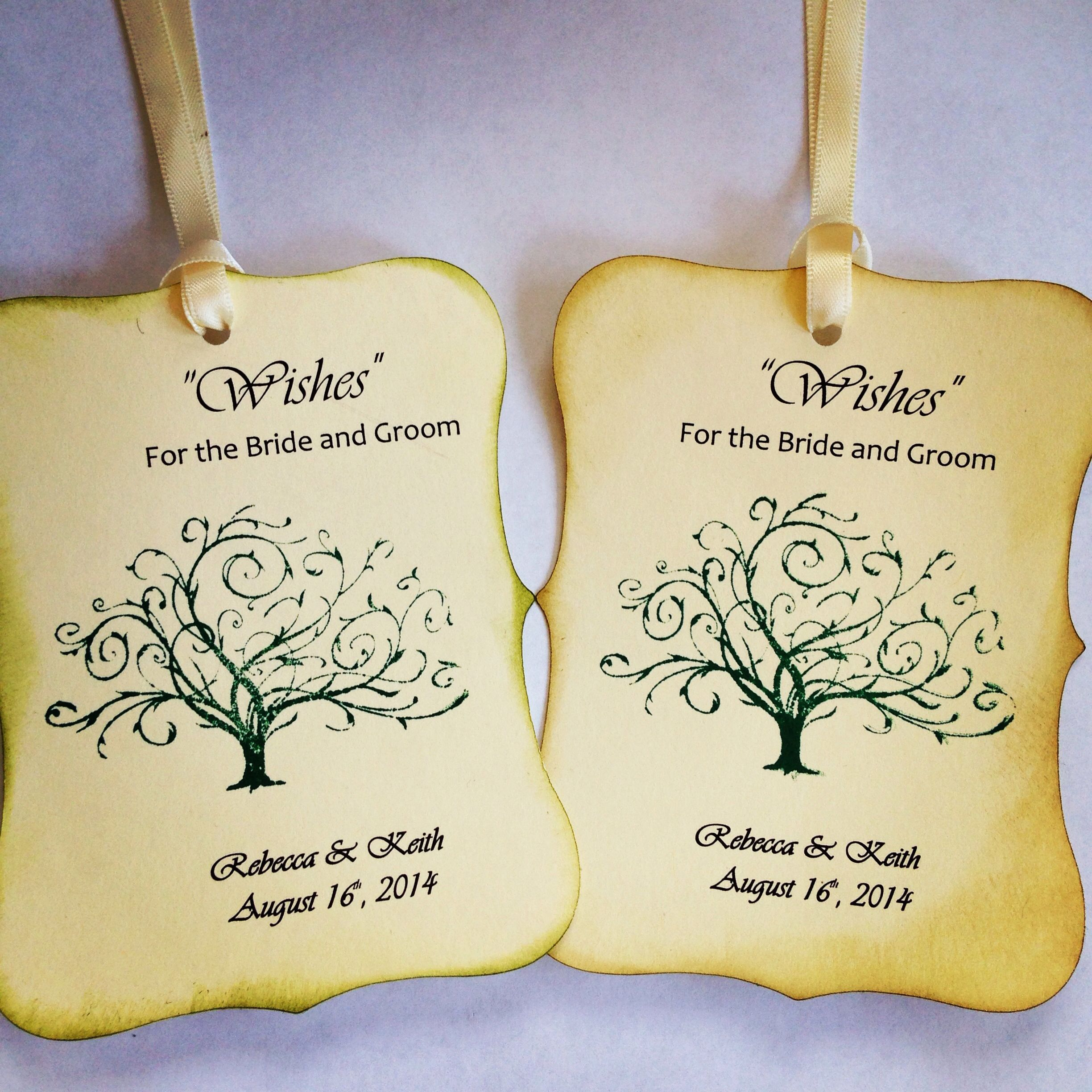 Wedding wish tags for a pretty wishing tree!! | Wedding Favors and ...