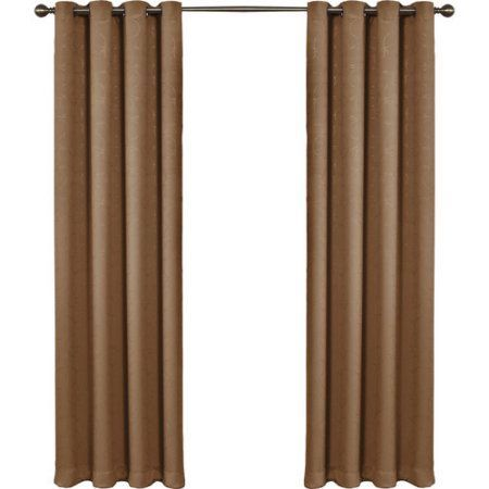 Eclipse Round and Round Blackout Window Curtain Panel, Brown