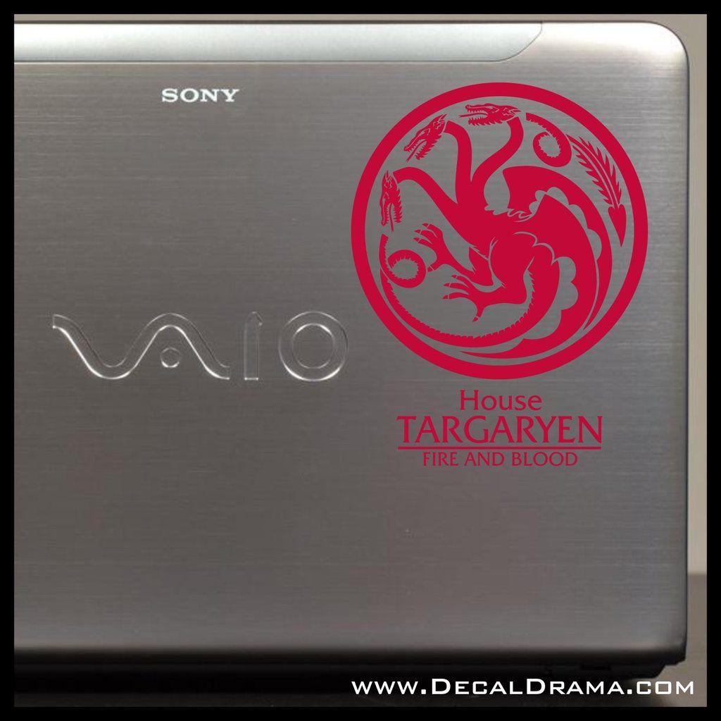 House Targaryen Dragon Fire And Blood GoT Game Of Thronesinspired - Custom vinyl wall decals dragon