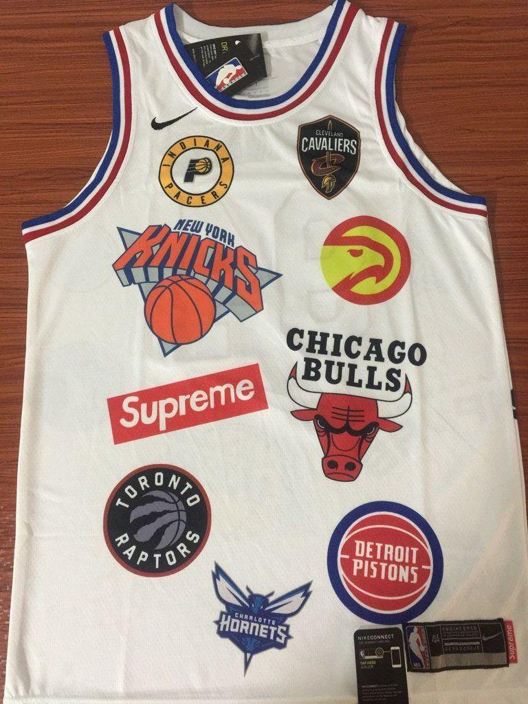 e5508fbf34e 94 SUPREME X NIKE Jersey NBA Jersey IN WHITE Jersey Player