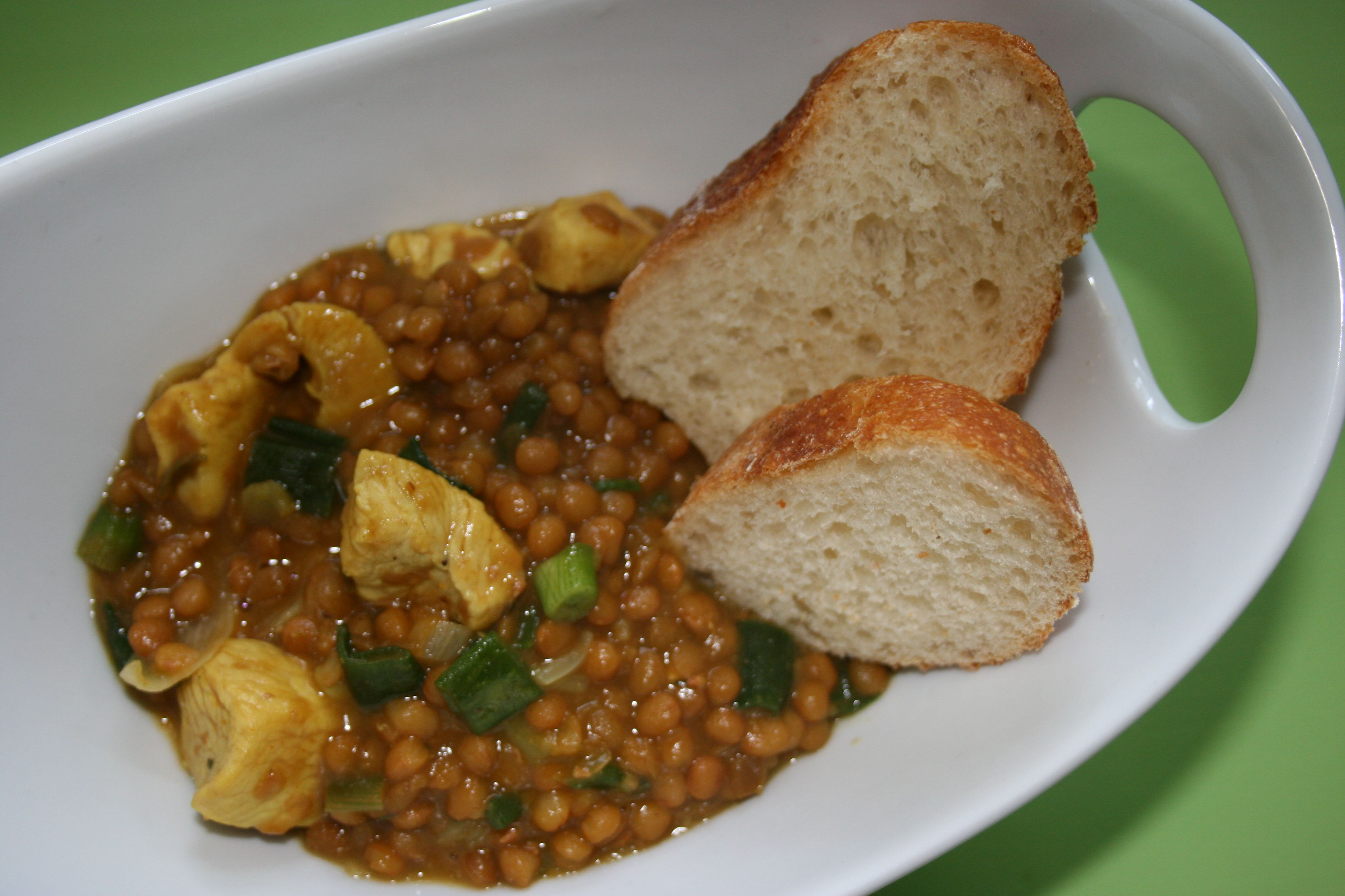 Linsencurry mit huhn h hner h lsenfr chte und lecker for Kochen mit biolek