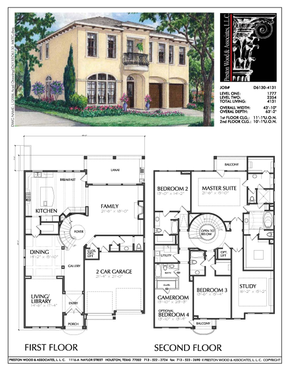Urban House Plan D6130 Family House Plans House Blueprints House Plans
