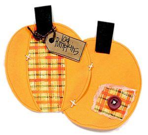 Oval Pumpkins Paper-Piecing Pattern