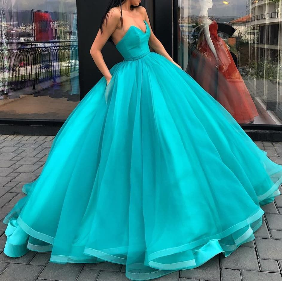 Turquoise wedding dresses  Pin by MyCharacters on Prom dresses  Pinterest  Dresses dresses